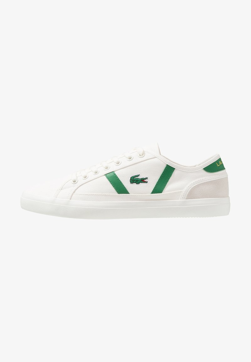 Lacoste - SIDELINE - Sneakers laag - offwhite/green