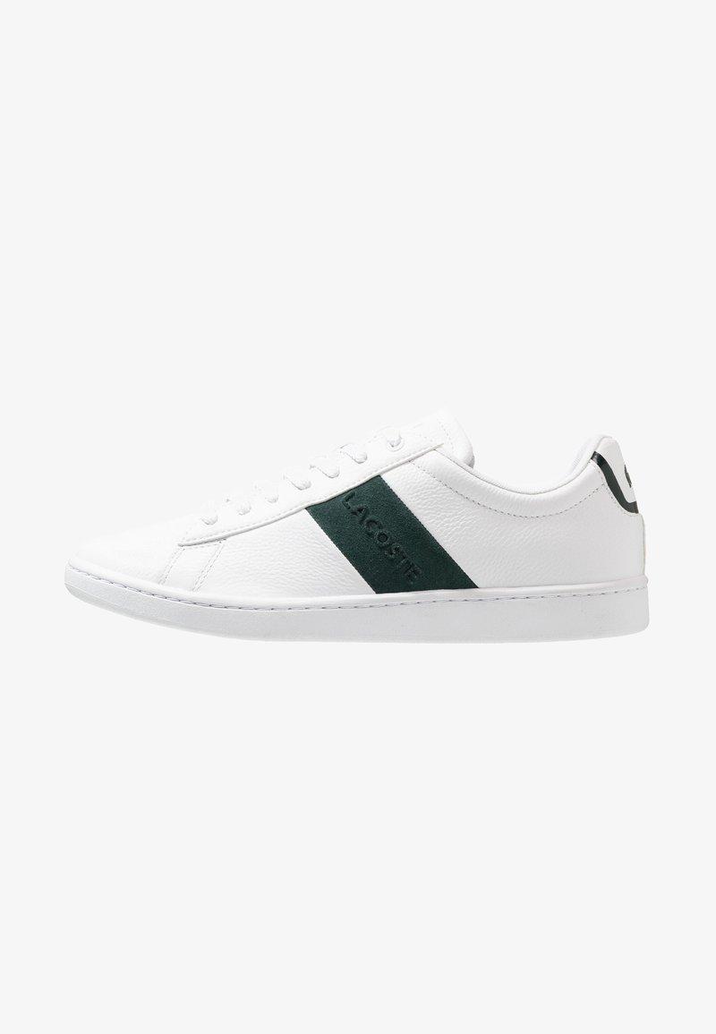 Lacoste - CARNABY EVO - Zapatillas - white/dark green