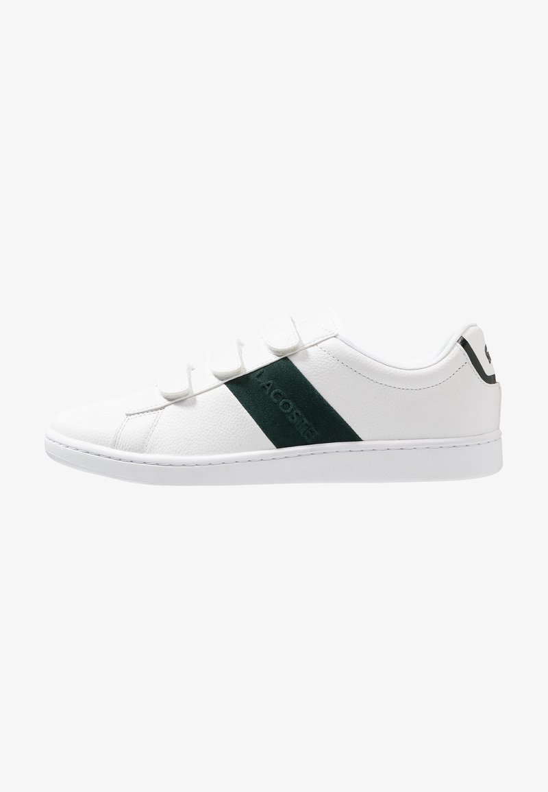 Lacoste - CARNABY STRAP - Sneakers basse - white/dark green