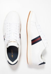 Lacoste - CARNABY EVO - Sneakers basse - white/navy/red - 1