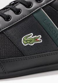Lacoste - CHAYMON - Sneakers laag - black/dark green - 5