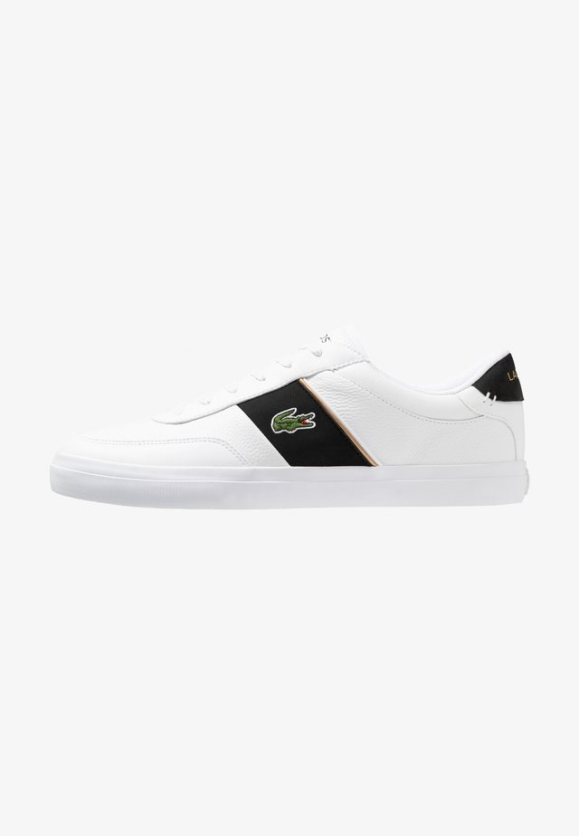 COURT MASTER - Matalavartiset tennarit - white/black