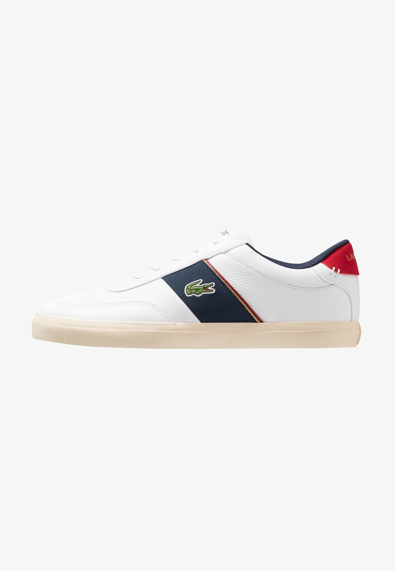 Lacoste - COURT MASTER - Trainers - white/navy/red