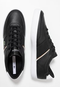 Lacoste - COURT MASTER - Sneakers laag - black/white - 1