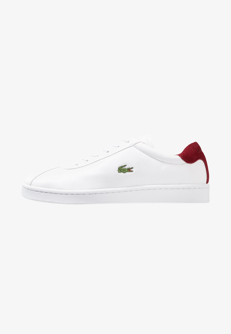 Lacoste - MASTERS - Trainers - white/dark red