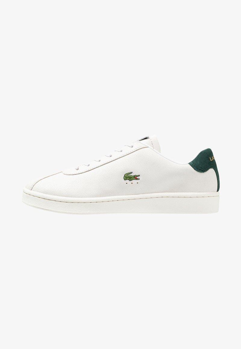 Lacoste - MASTERS - Sneaker low - white/dark green