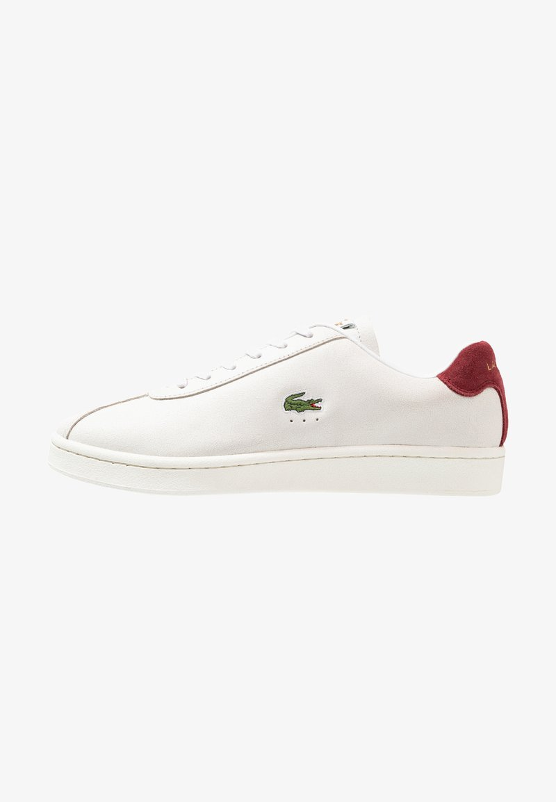 Lacoste - MASTERS - Zapatillas - white/dark red