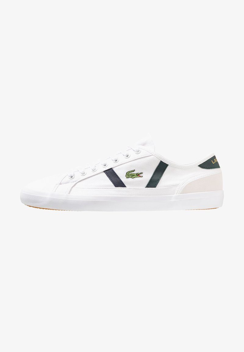 Lacoste - SIDELINE - Sneaker low - white/dark green