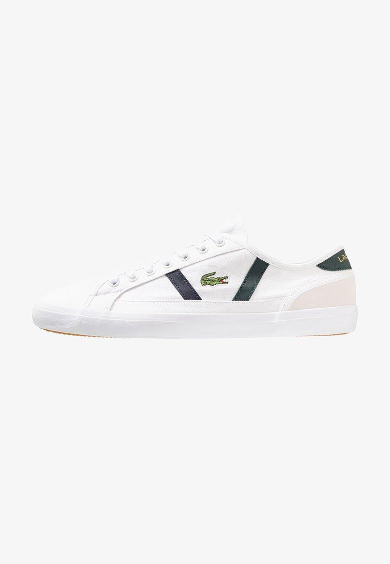 Lacoste - SIDELINE - Sneakers - white/dark green
