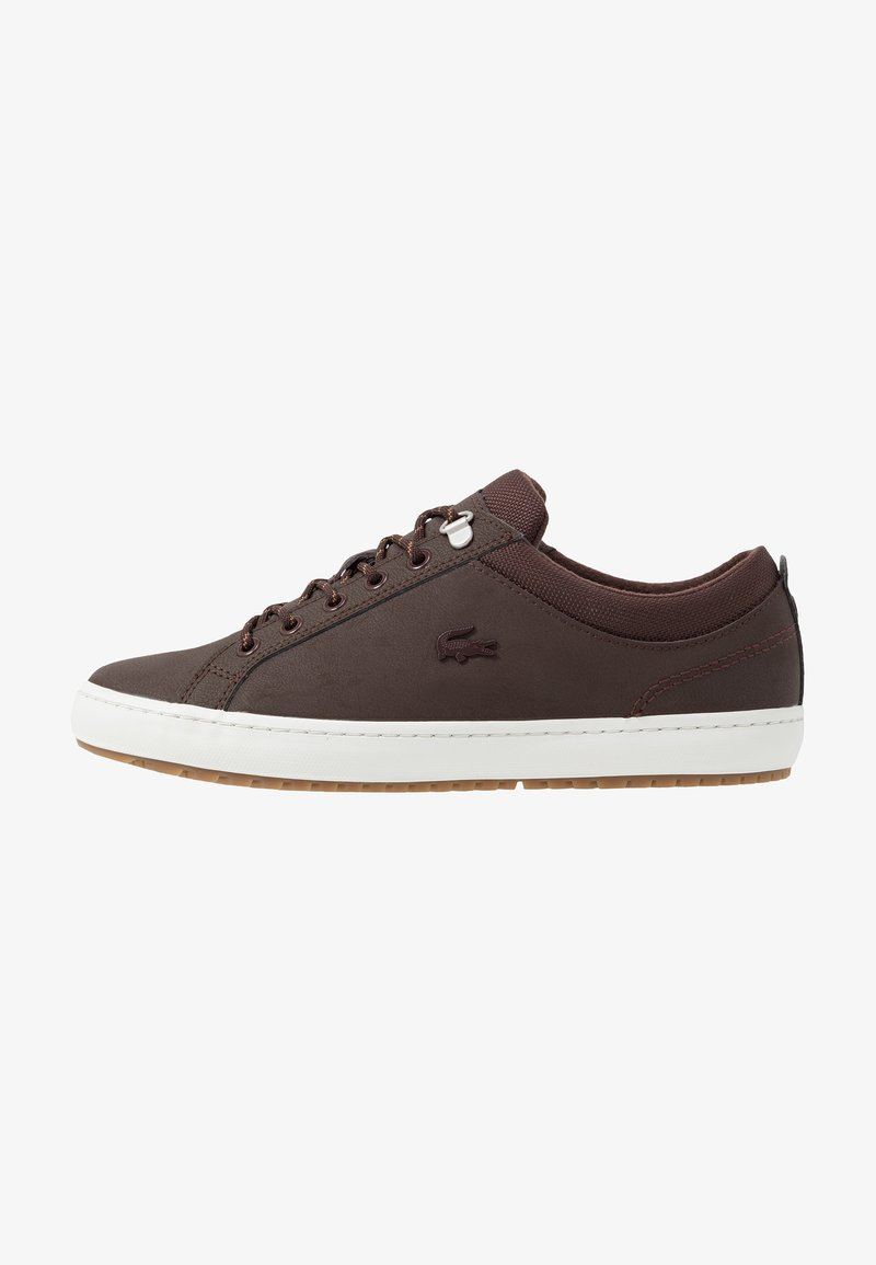 Lacoste - STRAIGHTSET INSULATE - Sneaker low - dark brown/offwhite