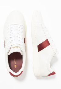Lacoste - CARNABY EVO - Joggesko - white/dark red - 1