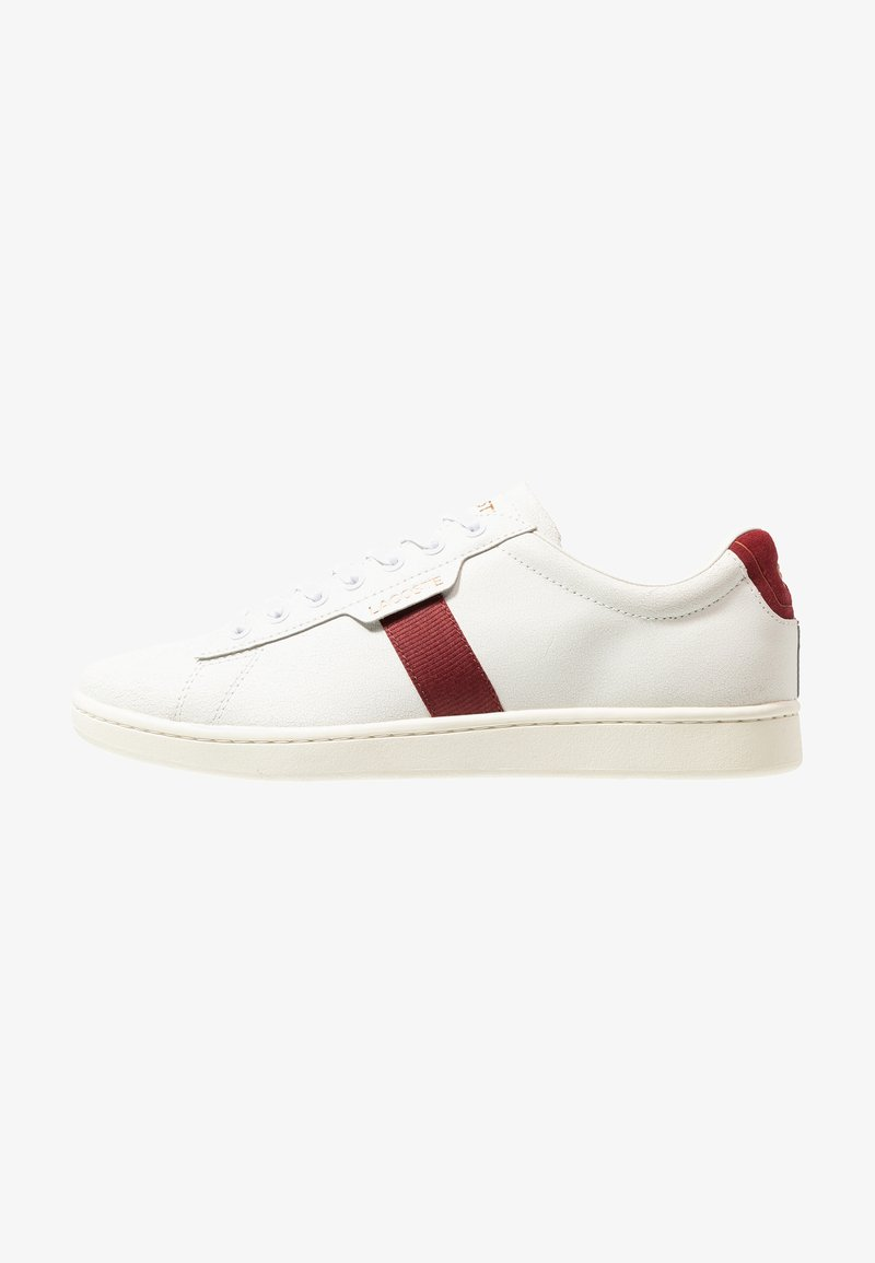 Lacoste - CARNABY EVO - Joggesko - white/dark red