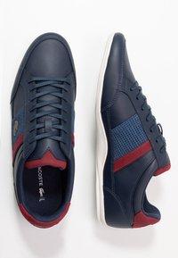Lacoste - CHAYMON - Sneakersy niskie - navy/dark red - 1