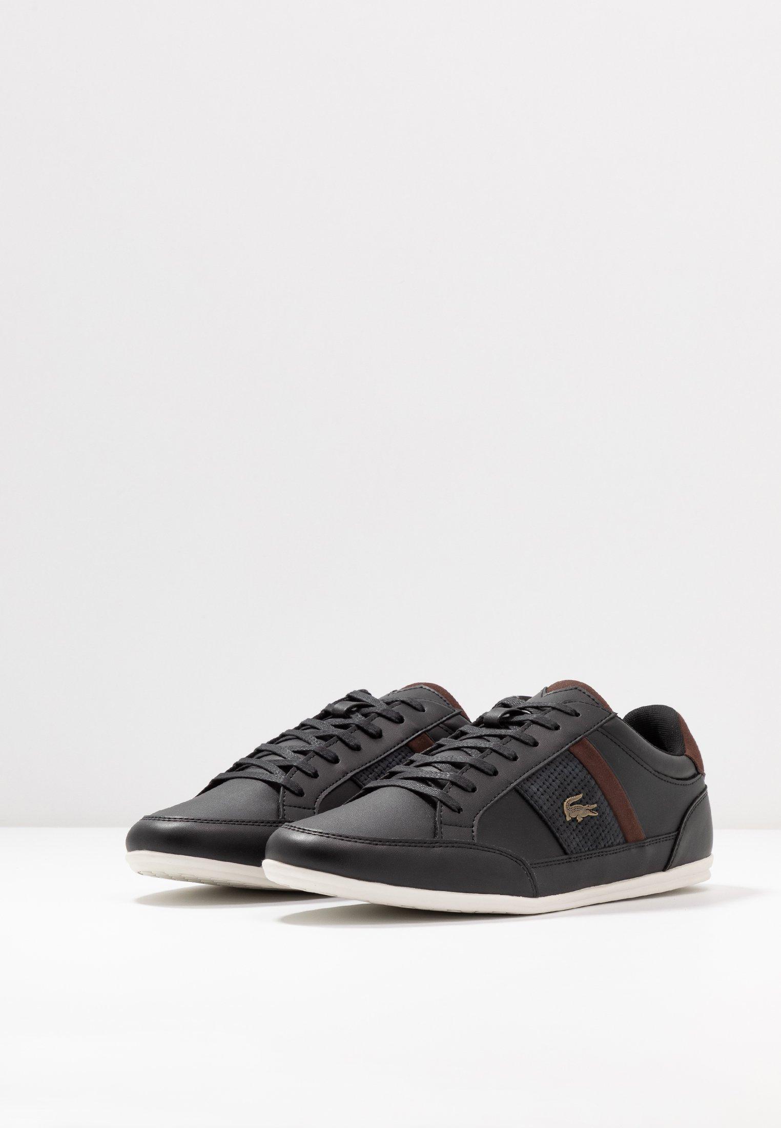 Lacoste CHAYMON - Sneakers basse - black/dark brown