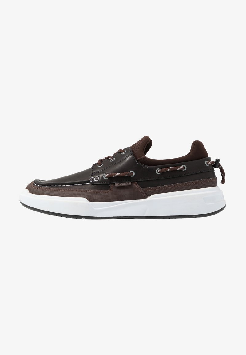 Lacoste - GENNAKER - Zapatos con cordones - black/dark brown