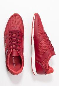 Lacoste - MENERVA SPORT - Zapatillas - dark red/red - 1