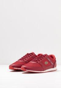 Lacoste - MENERVA SPORT - Zapatillas - dark red/red - 2