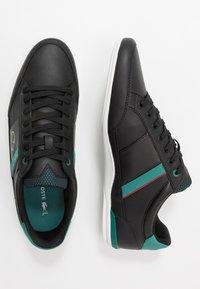 Lacoste - CHAYMON - Matalavartiset tennarit - black/green - 1