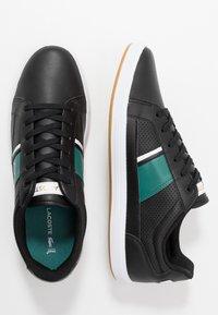 Lacoste - EUROPA - Sneakersy niskie - black/green - 1