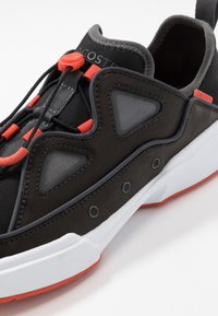 Lacoste - GENNAKER - Sneakers - black/orange - 5