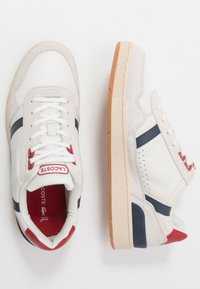 Lacoste - T-CLIP - Baskets basses - offwhite/navy/red - 1