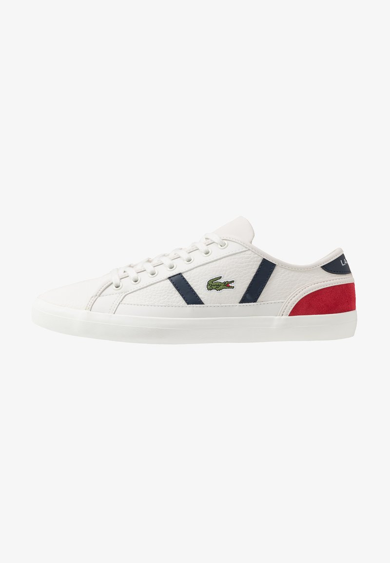 Lacoste - SIDELINE - Trainers - offwhite/navy/red