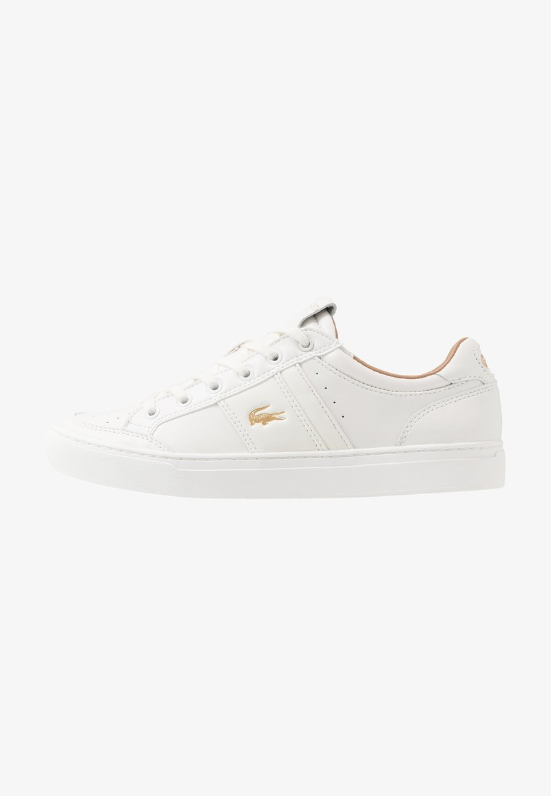 Lacoste - COURTLINE - Sneakers laag - white/gold