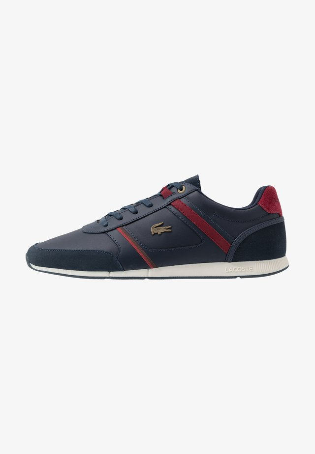 MENERVA - Sneakers laag - navy/dark red