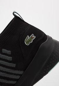 Lacoste - FIT FLEX - Sneakersy niskie - black/light green - 5