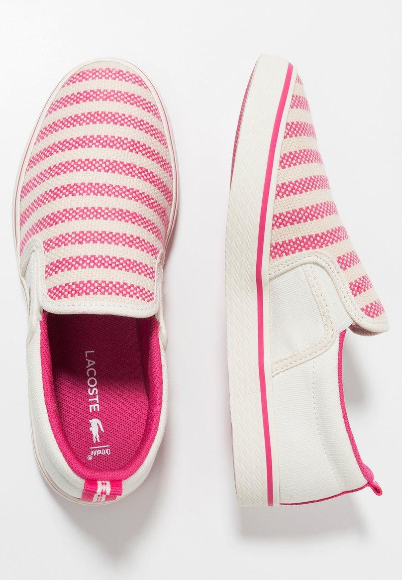 Lacoste - GAZON - Slip-ons - offwhite/dark pink