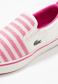 Lacoste - GAZON - Slip-ons - offwhite/dark pink - 2