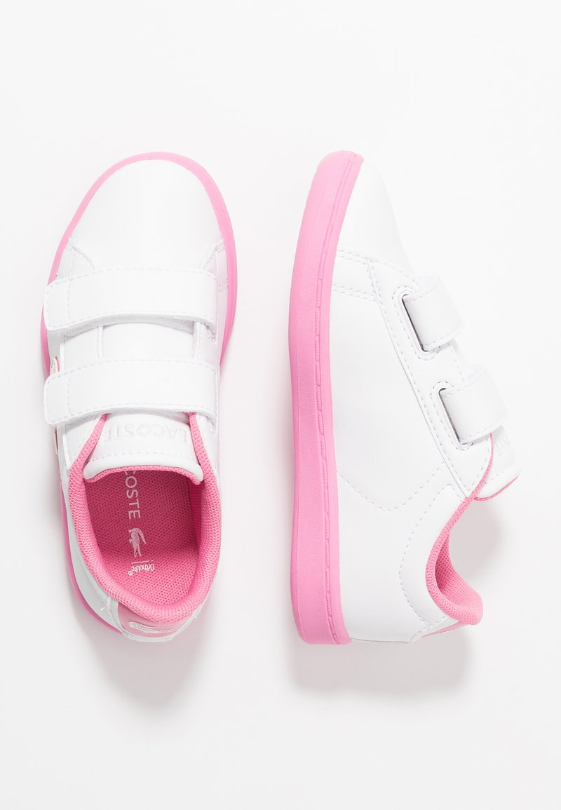 Lacoste - CARNABY EVO - Tenisky - white/pink