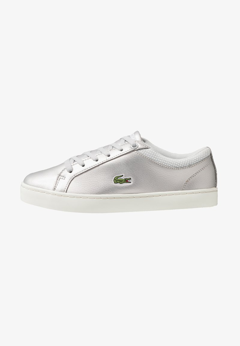 Lacoste - STRAIGHTSET - Sneakers - silver/offwhite