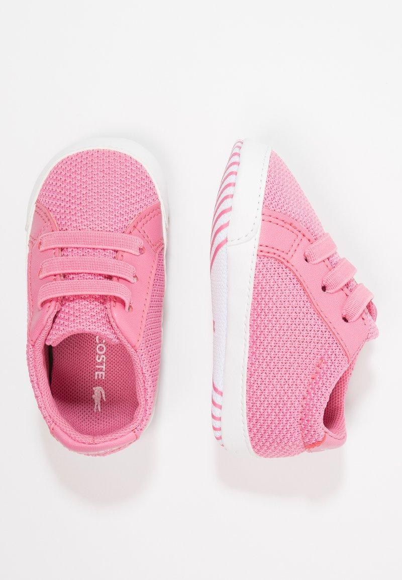 Lacoste - L.12.12 CRIB - Chaussons pour bébé - pink/white