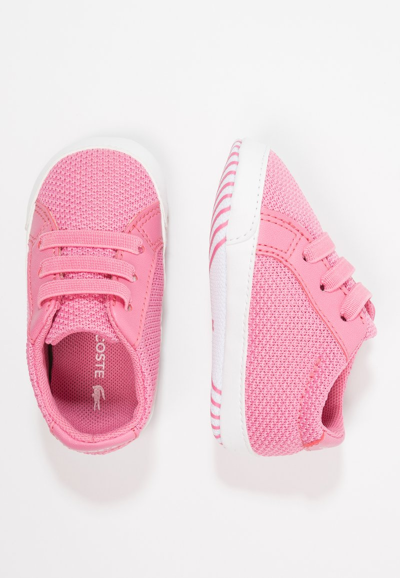 Lacoste - L.12.12 CRIB - First shoes - pink/white