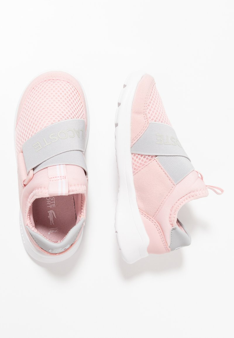 Lacoste - DASH SLIP - Półbuty wsuwane - light pink/grey