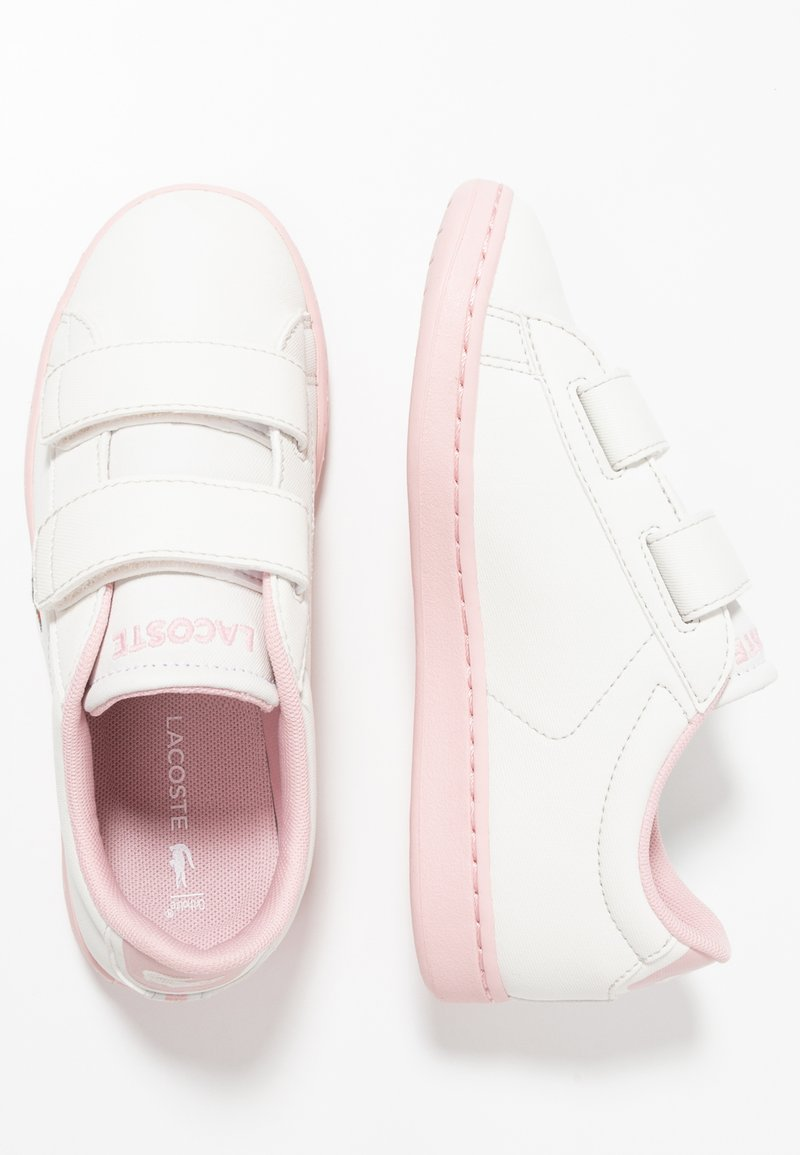 Lacoste - CARNABY EVO STRAP - Baby shoes - offwhite/light pink