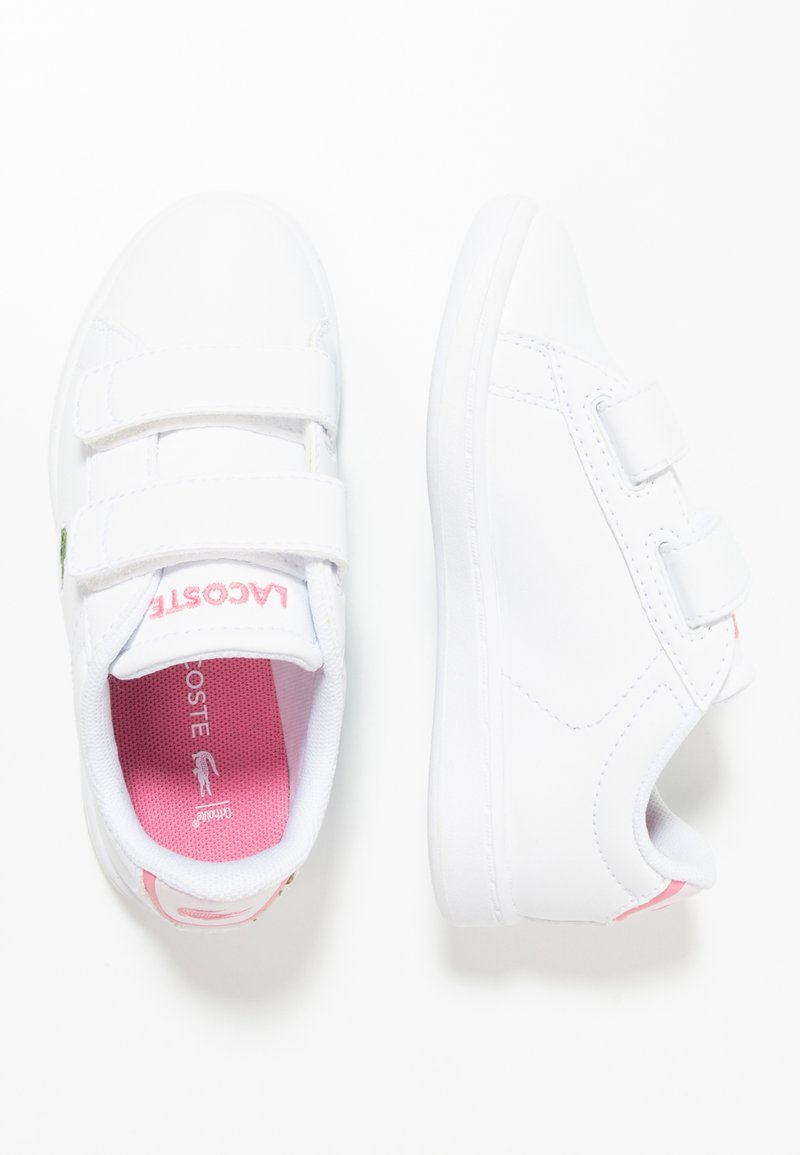 Lacoste - CARNABY EVO - Baby shoes - white/pink