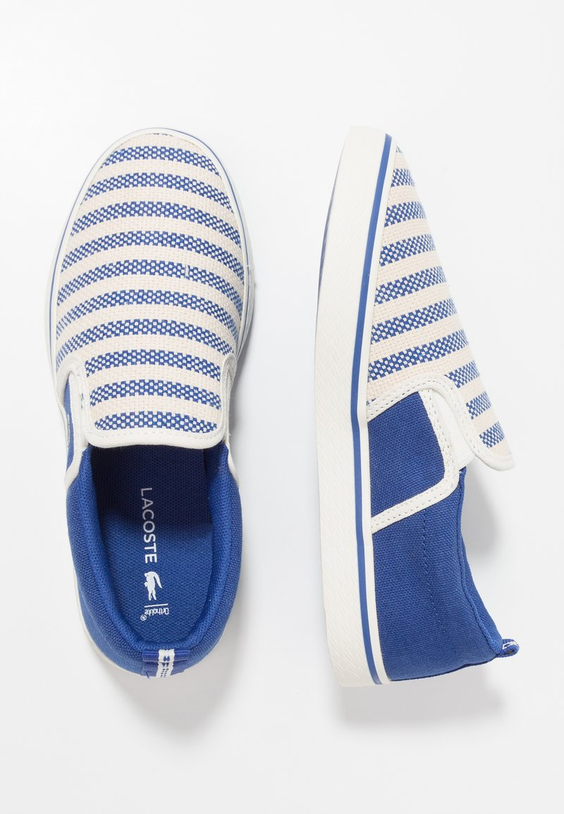 Lacoste - GAZON - Slip-ons - blu/offwhite