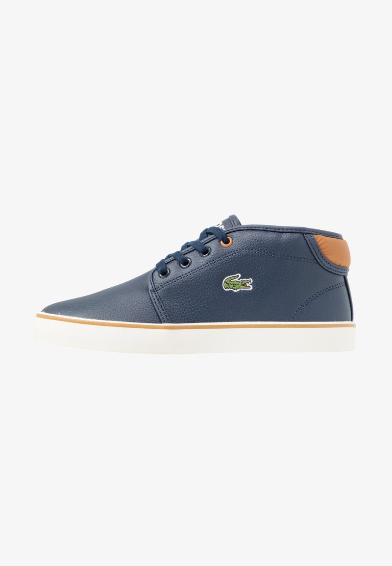 Lacoste - AMPTHILL - Sneakers high - navy/tan
