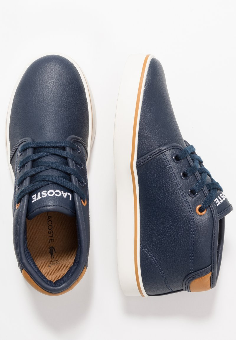 Lacoste - AMPTHILL - High-top trainers - navy/tan