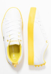 Lacoste - STRAIGHTSET  - Sneakers laag - white/yellow - 0