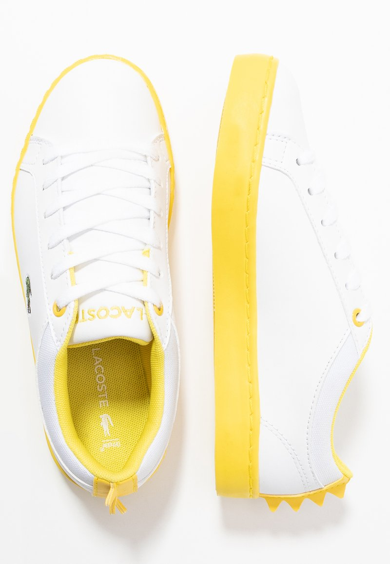 Lacoste - STRAIGHTSET  - Trainers - white/yellow