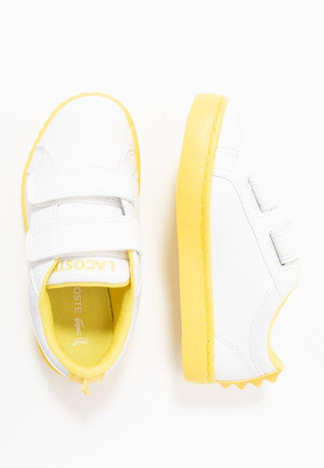 STRAIGHTSET - Matalavartiset tennarit - white/yellow