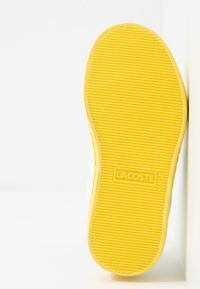 Lacoste - STRAIGHTSET - Trainers - white/yellow - 5