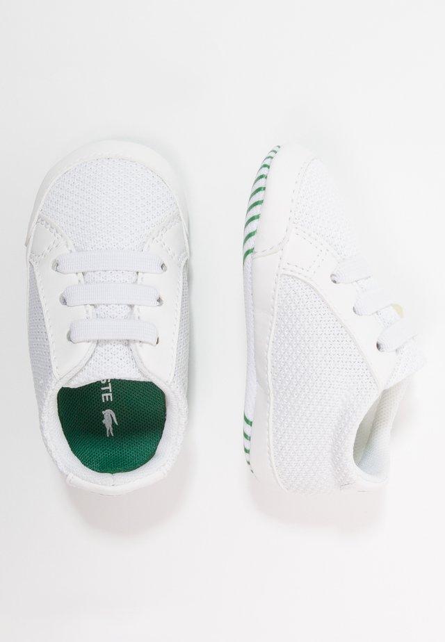 L.12.12 CRIB - Obuwie do raczkowania  - white/green