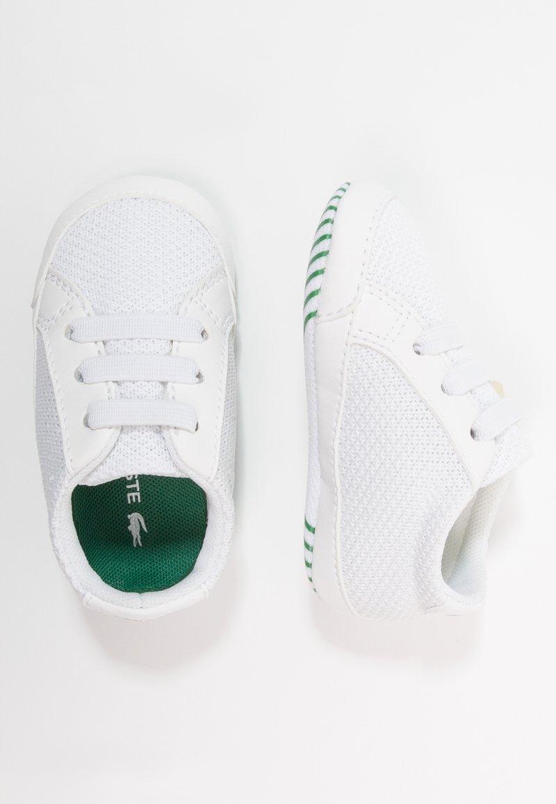 Lacoste - L.12.12 CRIB - Chaussons pour bébé - white/green