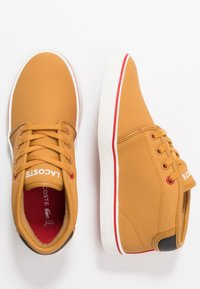 Lacoste - AMPTHILL THERMO - Sneakers high - tan/black - 0