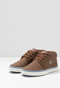 Lacoste - AMPTHILL THERMO - High-top trainers - brown/blue - 3