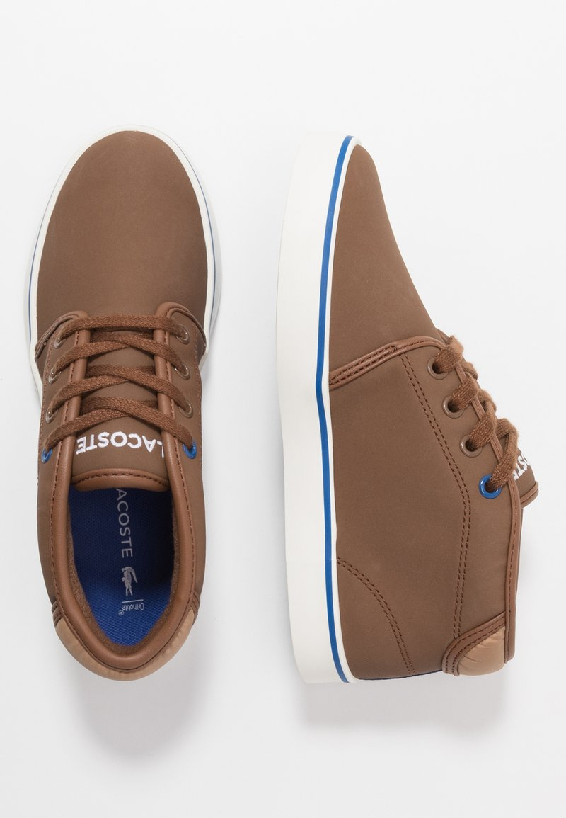 Lacoste - AMPTHILL THERMO - High-top trainers - brown/blue